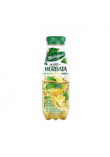 Bebida TE FRIO VERDE sabor de limon y menta 12x300ml.HERBAPOL