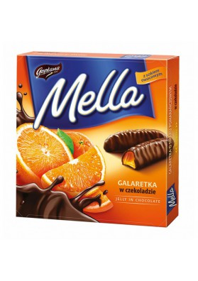 Gelatina de chocolate ORANGE DELIGHTS con sabor a naranja 24x190gr.GOPLANA